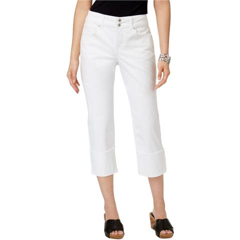 Style&Co. Womens 2-Button Cropped Jeans - 10