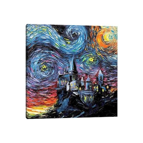 "iCanvas ""Van Gogh Never Saw Hogwarts"" by Aja Trier Canvas Print"