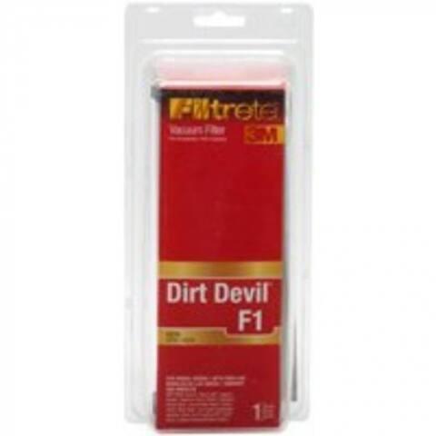 Filtrete 65801C-2 Vacuum Cleaner Filter, Dirt Devil Style F1