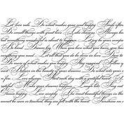 "Elegant Script - Darkroom Door Background Cling Stamp 4""X6"""
