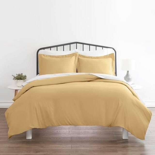 Soft Essentials Ultra Soft 3-piece Duvet Cover Set - Gold - Queen