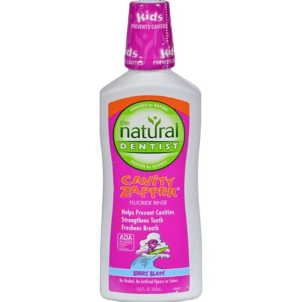 Natural Dentist Fluoride Rinse - Kids - Cavity Zapper - 16. 9 fl oz