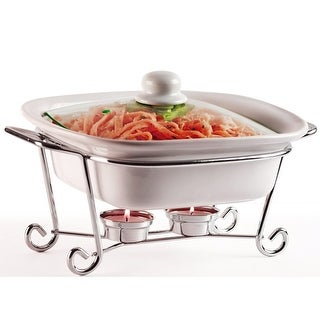 Palais Dinnerware Buffet Covered Casserole (1.5 Quart, Chrome Stand)