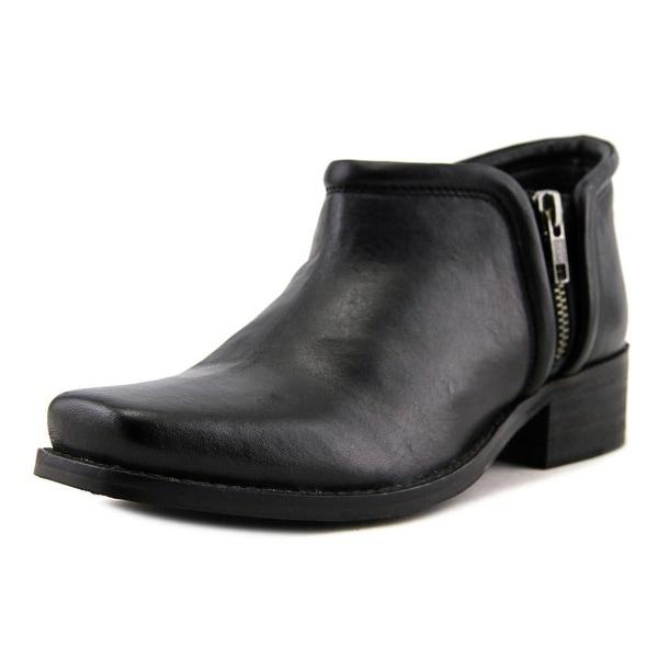 Seychelles Tanzanite Women Square Toe Leather Black Ankle Boot