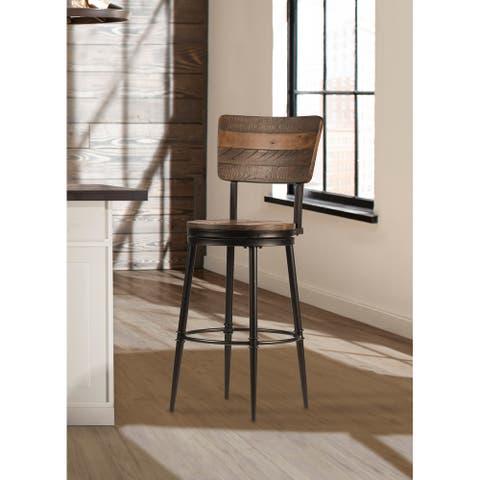 Hillsdale Furniture Jennings Metal Swivel Stool, Brown