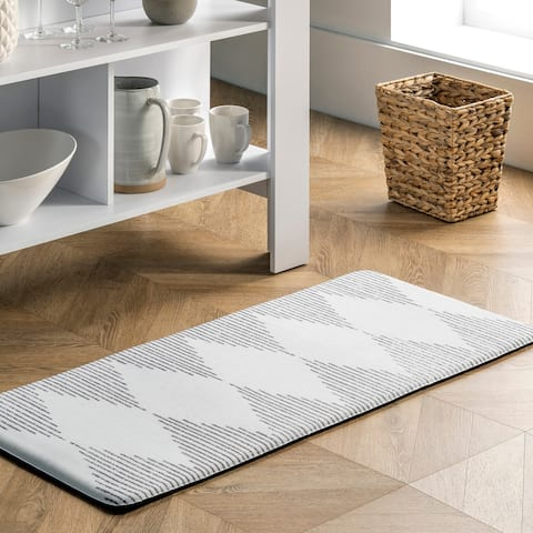 nuLOOM Diamond Stripes Anti Fatigue Kitchen or Laundry Room Comfort Mat
