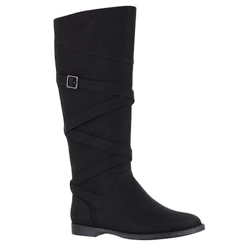 Easy Street Womens Memphis Closed Toe Mid-Calf Fashion Boots