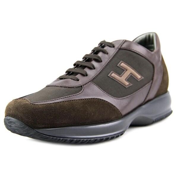Hogan New Interactive Uomo H Flock Men   Suede Brown Fashion Sneakers