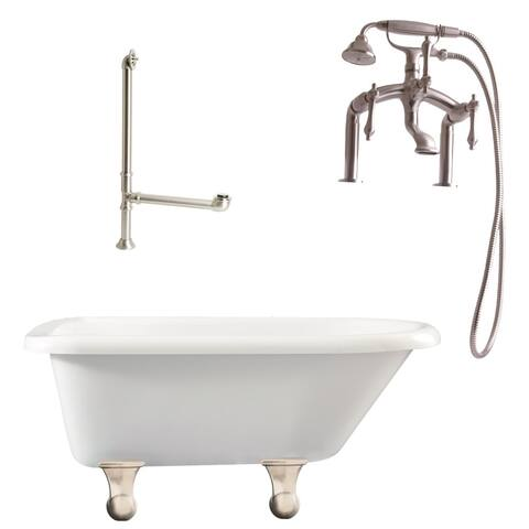 "Giagni LB3 Brighton 60"" Free Standing Soaking Tub Package -"