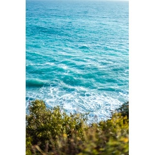 Blue Ocean And Waves Photograph Art Print