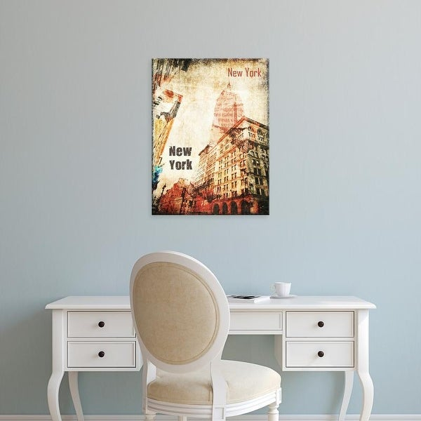 Easy Art Prints Irena Orlov's 'New York Grunge I' Premium Canvas Art