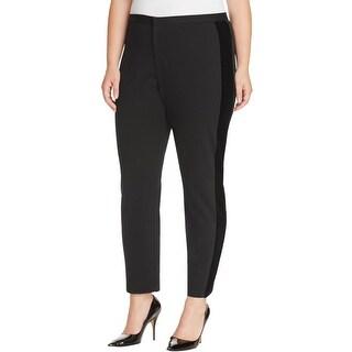 MICHAEL Michael Kors Womens Skinny Pants Velvet Side Stripe Mid-Rise