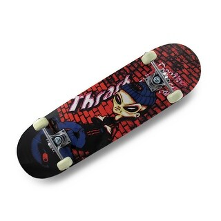 Thrash Alien 7-Ply Canadian Maple Grip Top Skateboard 31 in. - Multicolored