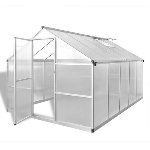 vidaXL Reinforced Aluminium Greenhouse with Base Frame 81.3 ft²