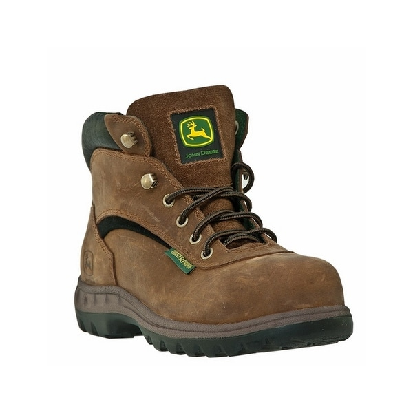 John Deere Work Boots Womens Waterproof Hiker Lacer Poplar Tan