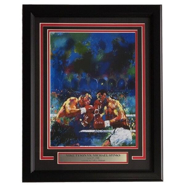 9c39e406d0fcd Leroy Neiman Framed 11x14 Mike Tyson vs Michael Spinks Boxing Print