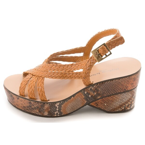 Stephane Kélian Womens 287431-50 Leather Open Toe Casual Strappy Sandals