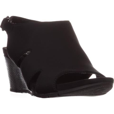Bandolino Galedale Peep Toe Wedge Sandals, Black