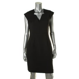 French Connection Womens Stretch Cap Sleeves Cocktail Dress - 6