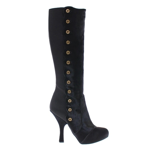 1f35ba1977 Shop Dolce   Gabbana Black Fur Leather Baroque Heel Boots Shoes - 40 ...