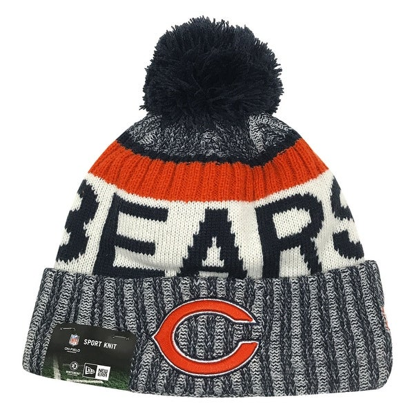 Shop New Era Chicago Bears Knit Beanie Cap Hat NFL 2017 On Field Sideline  11460404 - Free Shipping On Orders Over  45 - Overstock - 17743743 e2eb41018