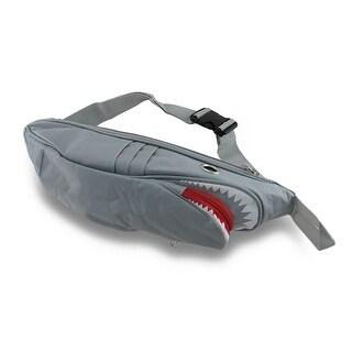 Mean Toothy Shark Nylon Canvas waist Pack