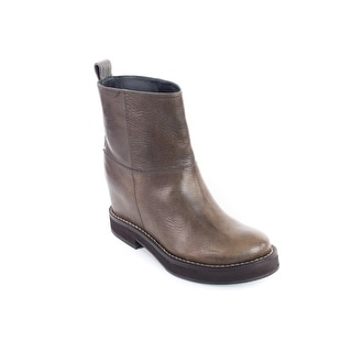 Brunello Cucinelli Womens Brown Monili Trimmed Ankle Boots