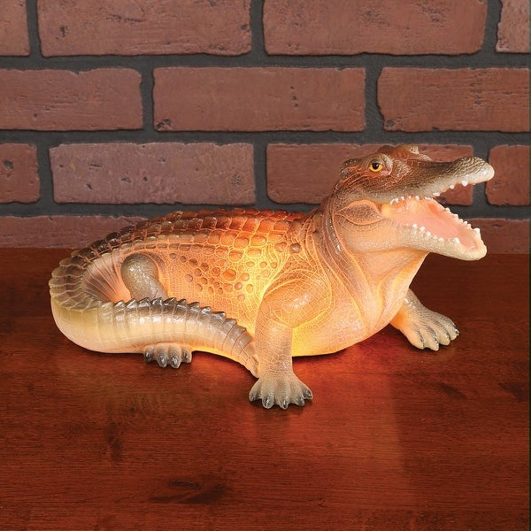 Alligator Table Lamp - Plug-In Accent Table Desk Light