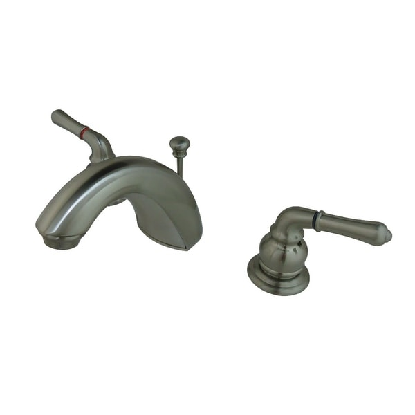 Kingston Brass FB95 1.2 GPM Widespread Bathroom Faucet with Pop-Up Drain Assembly and Metal Handles