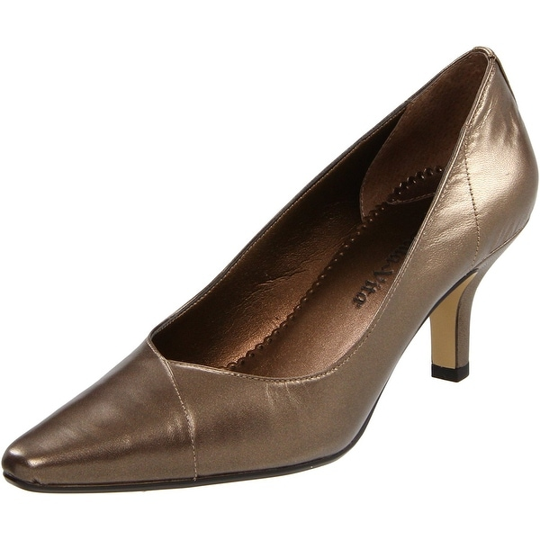 Bella Vita NEW Brown Bronze WOW Shoes Size 6W Pumps Leather Heels