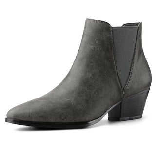 Women Pointed Toe Heel Ankle Chelsea Boots