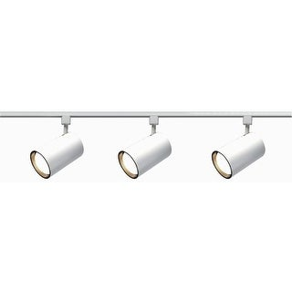 Nuvo Lighting TK318 Three Light R30 Straight Cylinder Track Kit - White