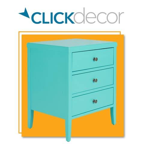 ClickDecor Finley Solid Wood 3 Drawer Nightstand