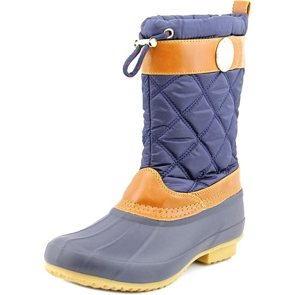 Tommy Hilfiger Arcadia Women Round Toe Canvas Blue Rain Boot