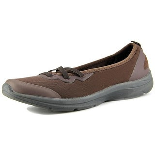 Easy Spirit e360 Quiet One Women W Round Toe Canvas Brown Walking Shoe