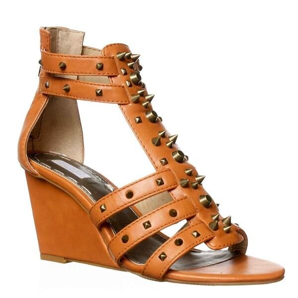 Rachel Roy Ollysa Wedge Sandals - Light Natural