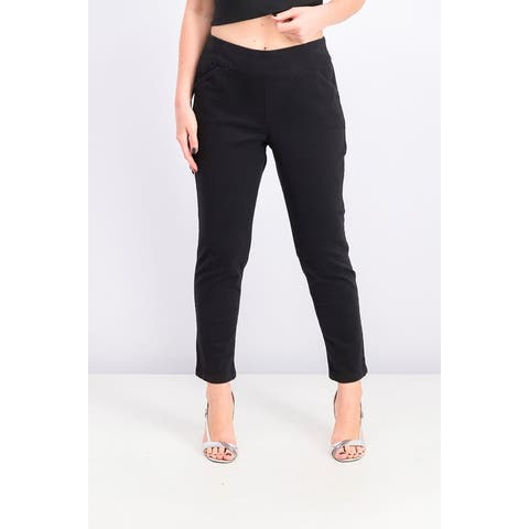 Style & Co Women's Pull-On Slant-Pocket Ankle Pants Black Size Small