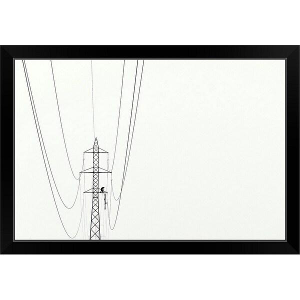 """Balance"" Black Framed Print"