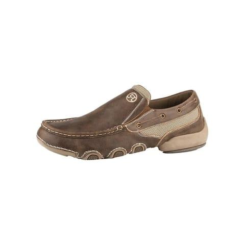 Roper Casual Shoes Mens Skipper Leather Tan