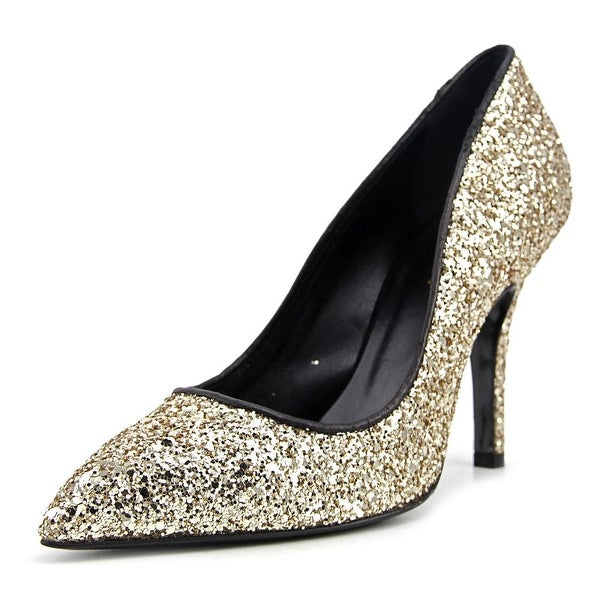 George J. Love Decolletes Glitter Women Gold Pumps