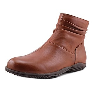 Softwalk Hanover Women Round Toe Leather Boot