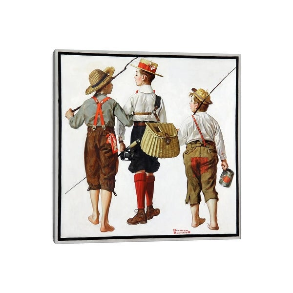 """iCanvas """"The Fishing Trip"""" by Norman Rockwell Canvas Print. Opens flyout."""