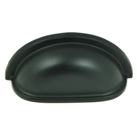 Stone Mill Hardware - Matte Black Nantucket Cup Cabinet Pulls (Pack of 25)