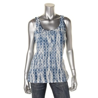 Lucky Brand Womens Juniors Embroidered Slub Casual Top - M