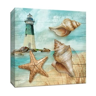 "PTM Images 9-146863  PTM Canvas Collection 12"" x 12"" - ""Shore"" Giclee Sea Animals Art Print on Canvas"