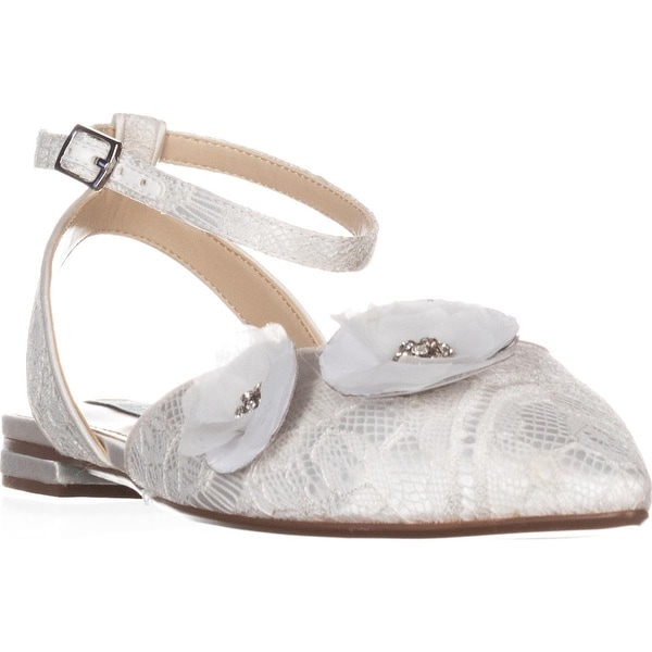 Blue by Betsey Johnson Willa Pointed Toe Flats, Ivory