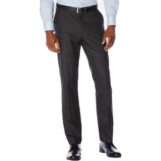 Perry Ellis Mens Dress Pants Heathered Slim Fit
