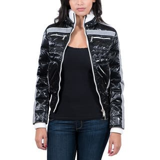 Williams Wilson Anise Nero Black Padded Women's Bomber Jacket|https://ak1.ostkcdn.com/images/products/is/images/direct/b4cad52ee788924fa9ffb6739cd8ea0df1818b07/Williams-Wilson-Anise-Nero-Black-Padded-Women%27s-Bomber-Jacket.jpg?impolicy=medium