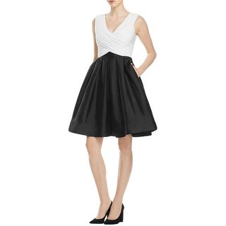 Adrianna Papell Womens Semi-Formal Dress Colorblock Flare