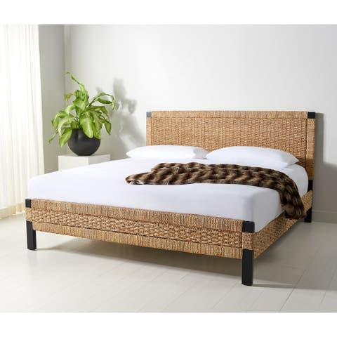 Safavieh Couture Galen Woven Banana Stem Bed